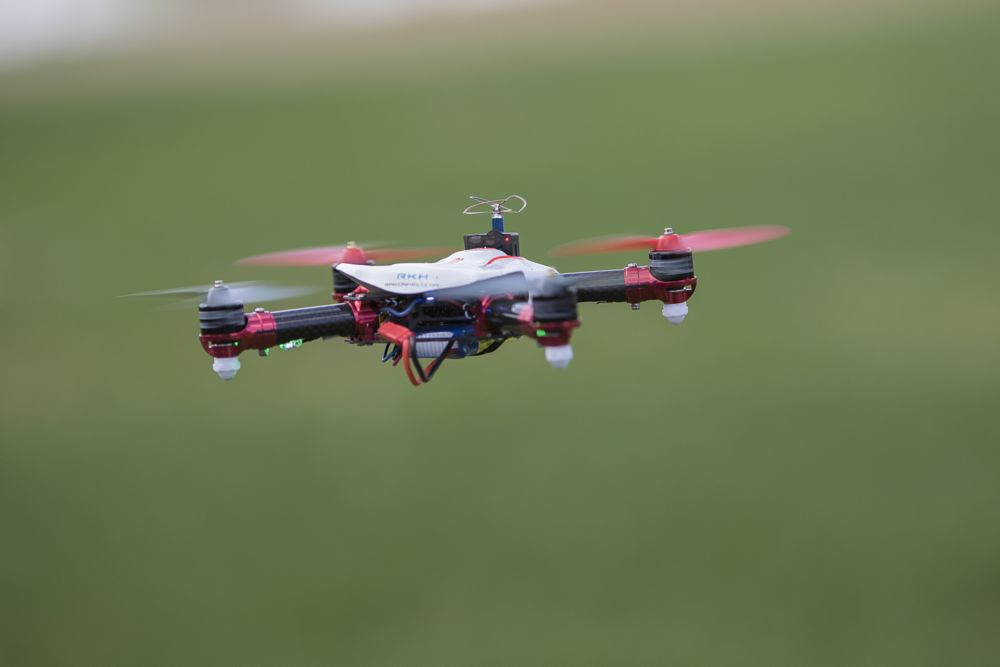 Photo in Product #drone #grass #speed #red #electronic
