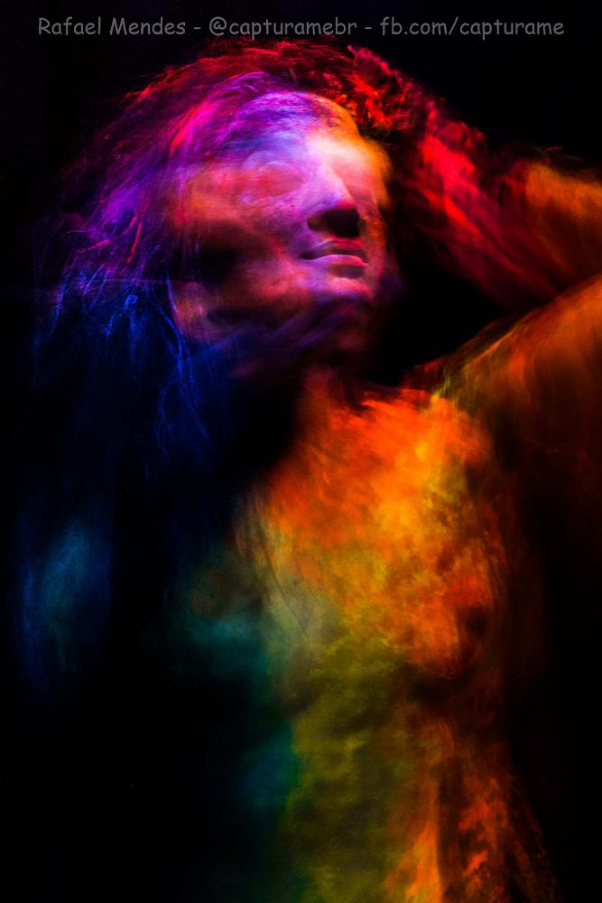 Photo in Celebrities #blur #my #color #multiple exposure #art #paint #black light #model #woman