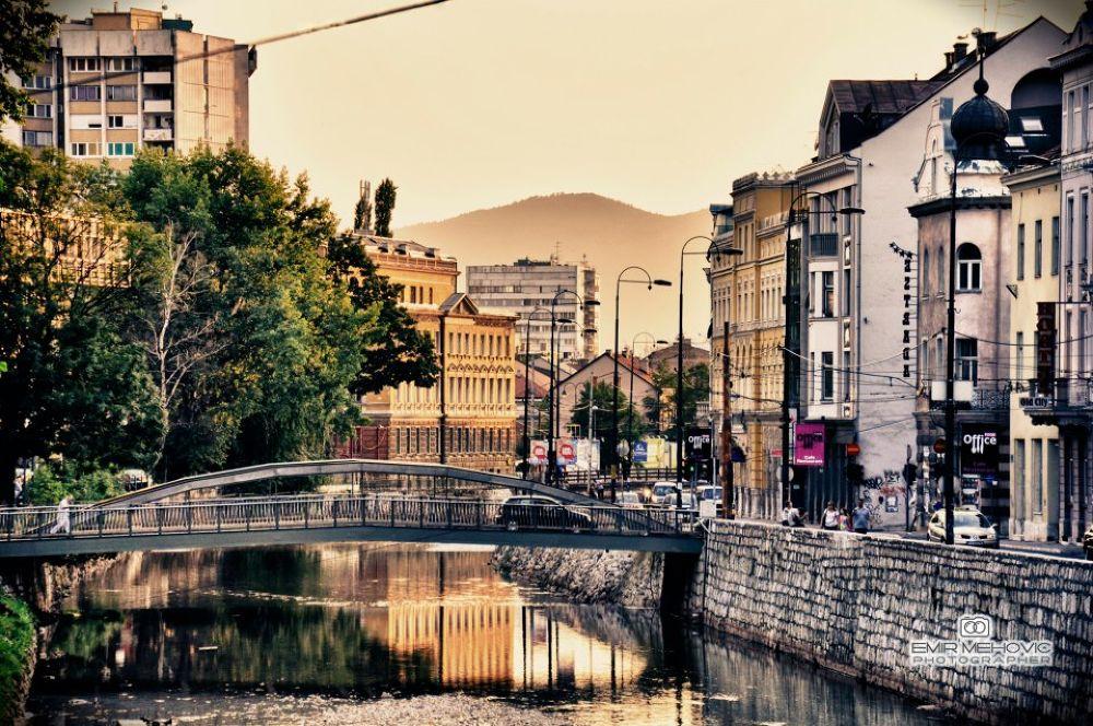 Photo in Random #city #sarajevo #bosnia #bridge #river #miljacka