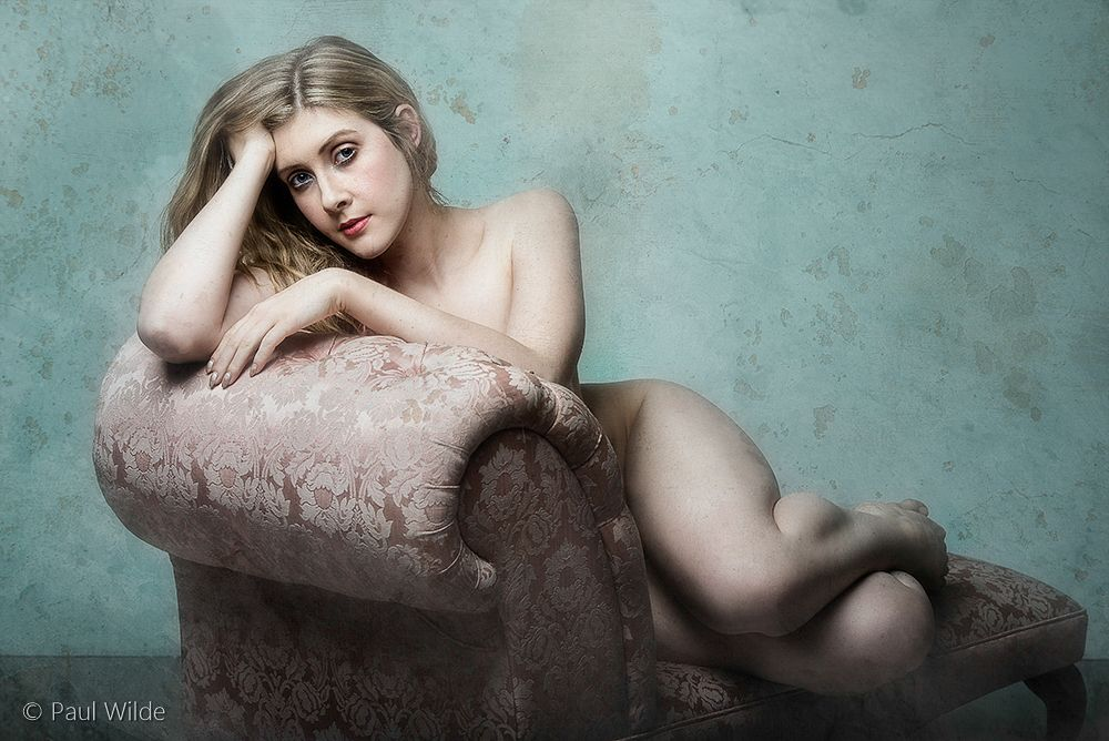Photo in People #chaise lounge #nude #studio