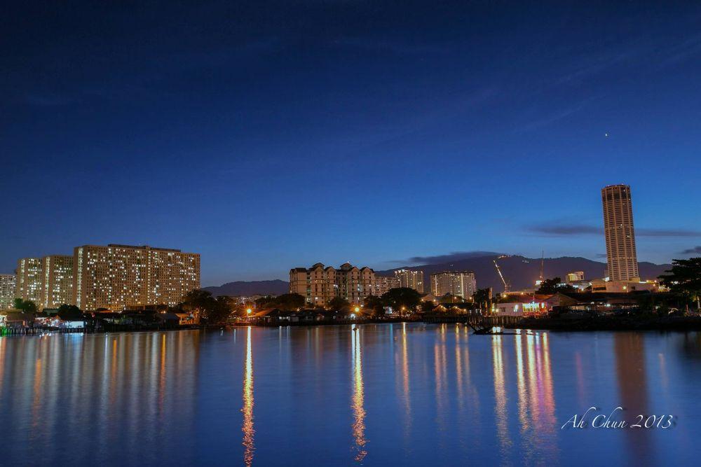 Photo in Landscape #seascape #dusk #landscape #building #sea #sky #dawn