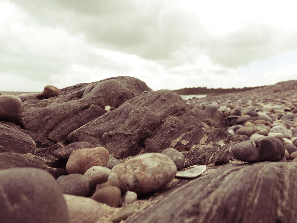 Photo in Sea and Sand #sea #beach #sand #rock