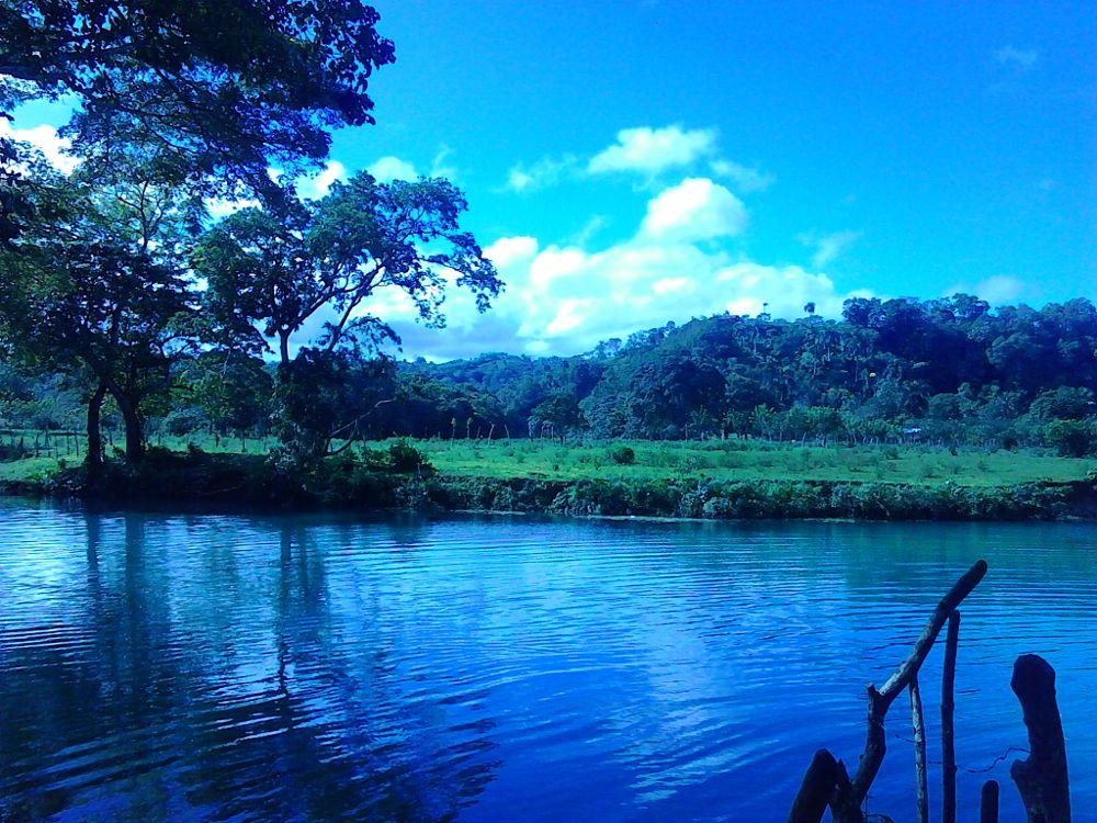 Photo in Landscape #river #pastures #sky