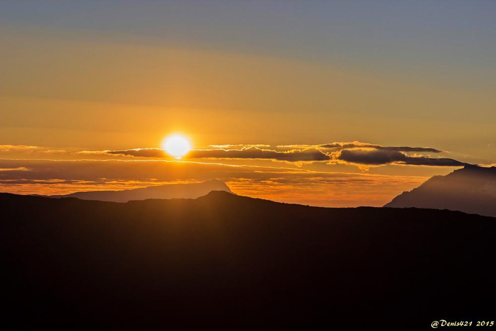 Photo in Landscape #sunset #montain #reunion #island #denis payet