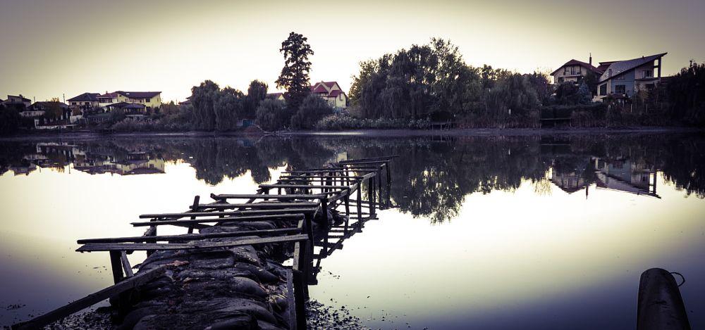 Photo in Landscape #lake #water #pontoon