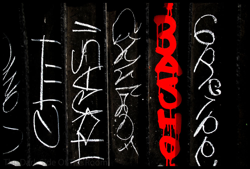 Photo in Fine Art #basho #red #color #urban #rouge #rojo #text #letters #tag #abstract