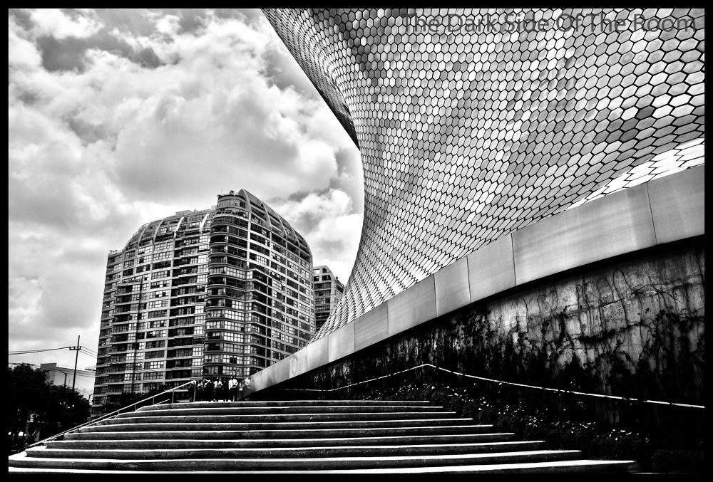 Photo in Architecture #black and white #hdr #city #mexico #polanco #architecture #clouds #urban #noir blanc #blanco y negro