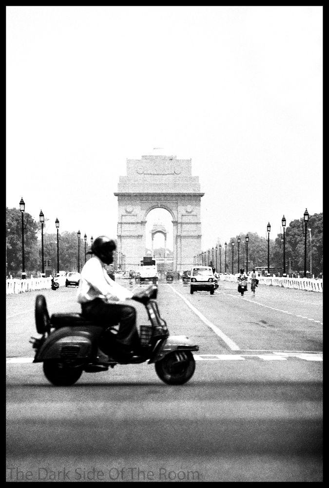 Photo in Street Photography #india #black and white #street #scooter #moto #contrast #film #analogue #argentique