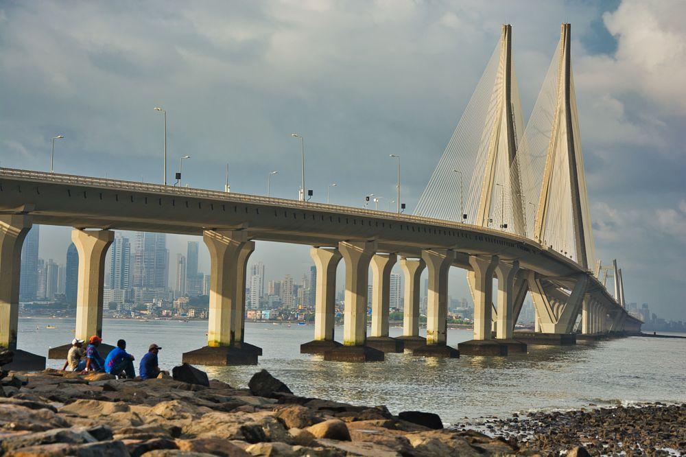 Photo in Cityscape #sea #bridge #friends #people