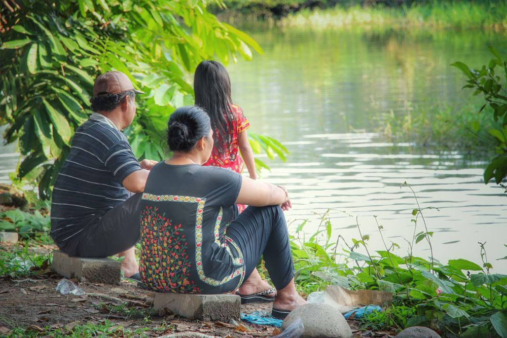 Photo in People #family #vacation #lake #nature #green