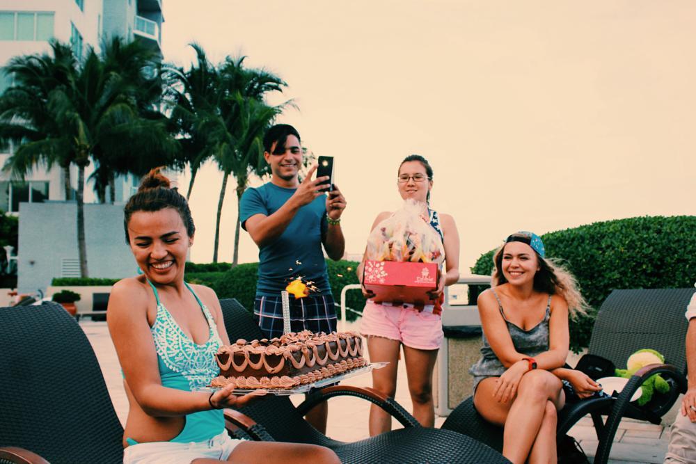 Photo in People #birthday #friends #gathering #pose #miami #peace #urban