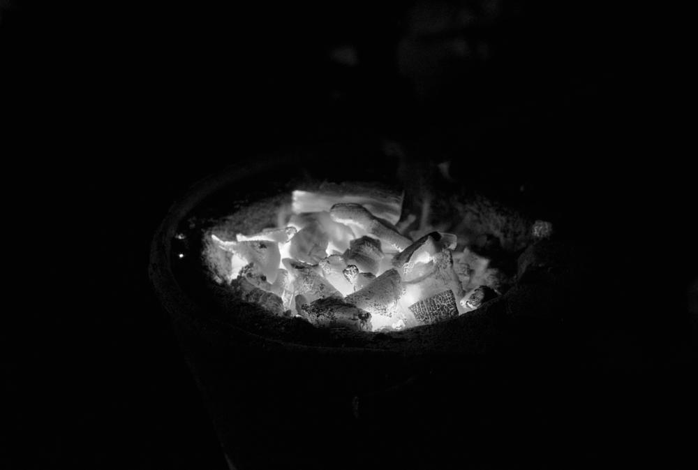 Photo in Black and White #fire #mono #crome