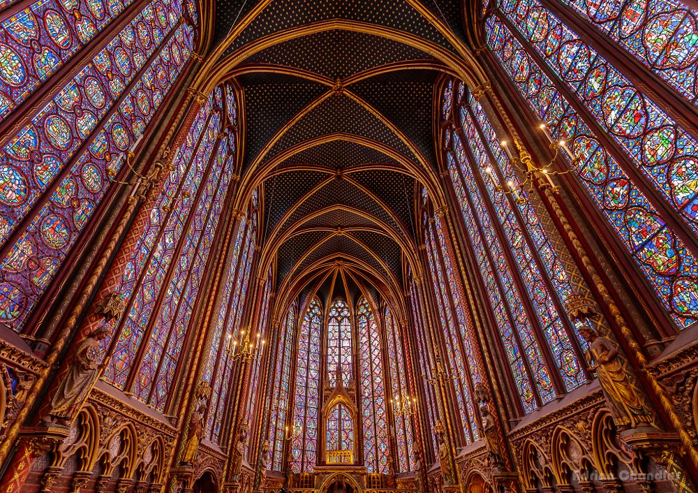 Photo in Architecture #paris #france #europ #church #chapel #windows #stained glass
