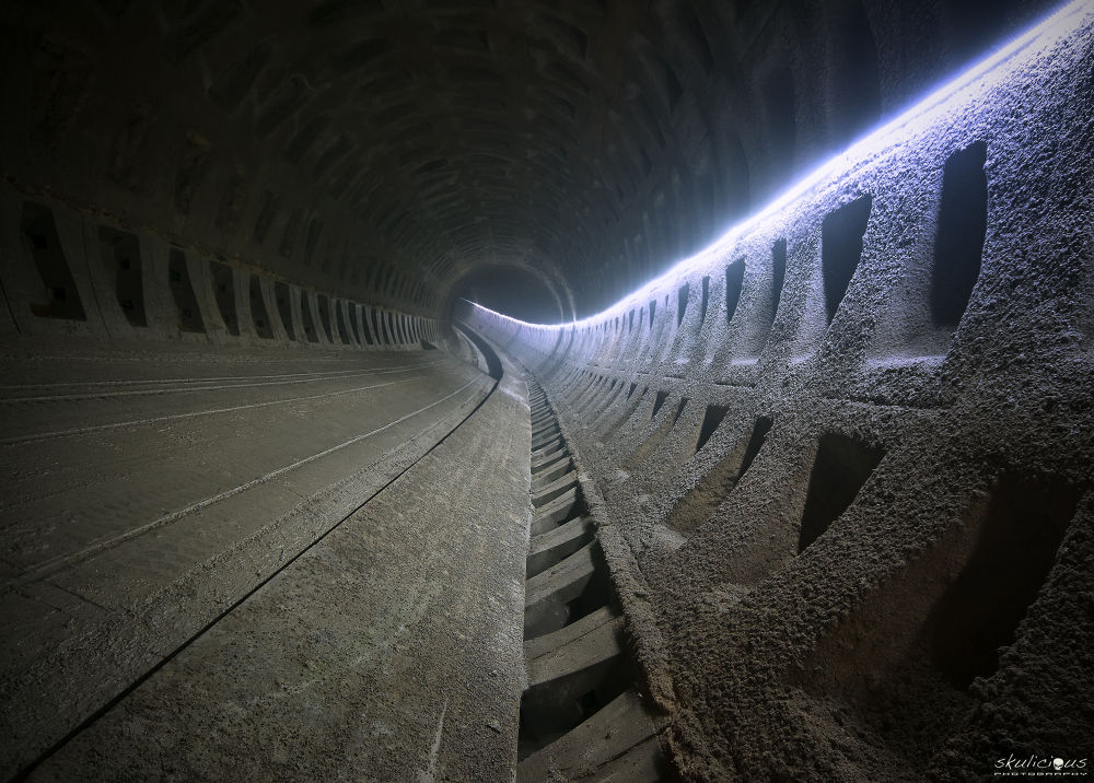 Photo in Random #urbex #skulicious #decay #premetro #metro #tube #tunnel #led