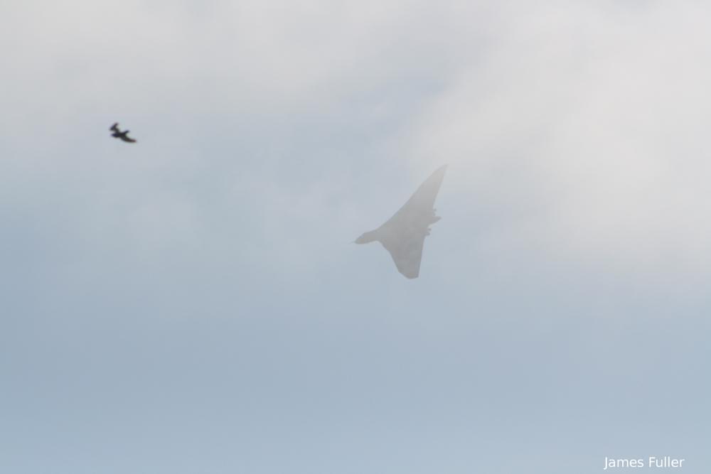 Photo in Vehicle #james fulller #plane #vulcan #xh558 #vulcan bomber #last flying vulcan #bournemouth airshow