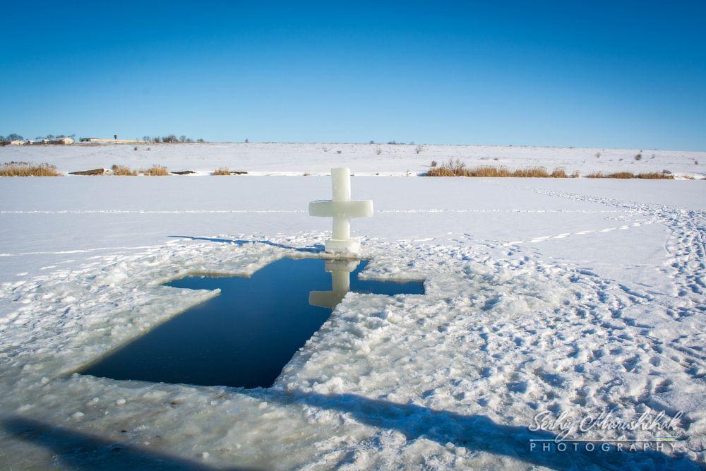 Photo in Journalism #epiphany #holiday #water #clarity #ice #sky #ukraine #sun
