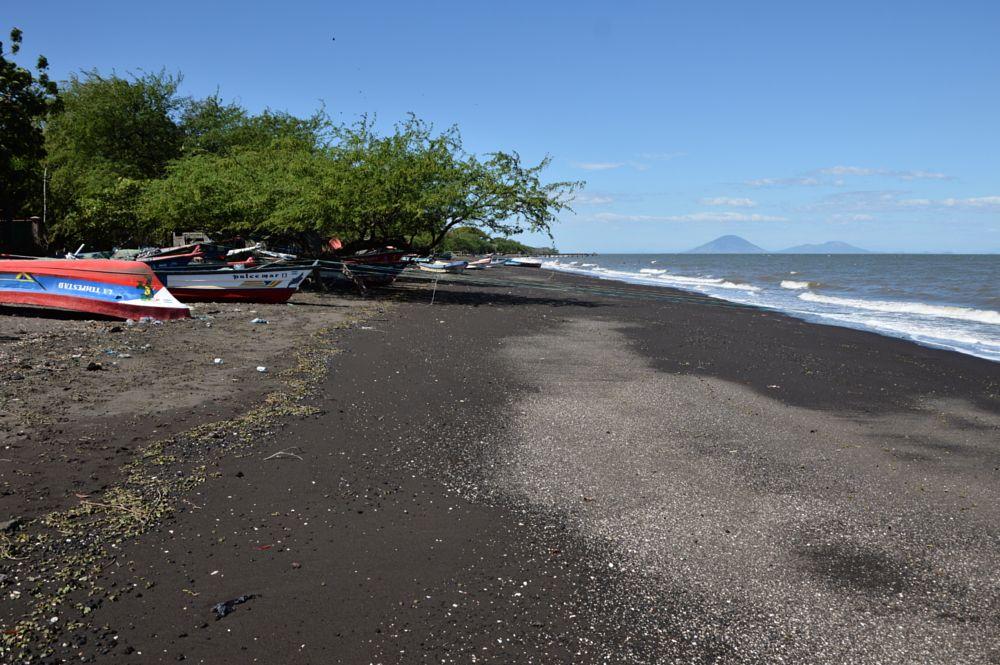 Photo in Landscape #beach #sand #volcanic #boats #sea #sky #potosi #nicaragua