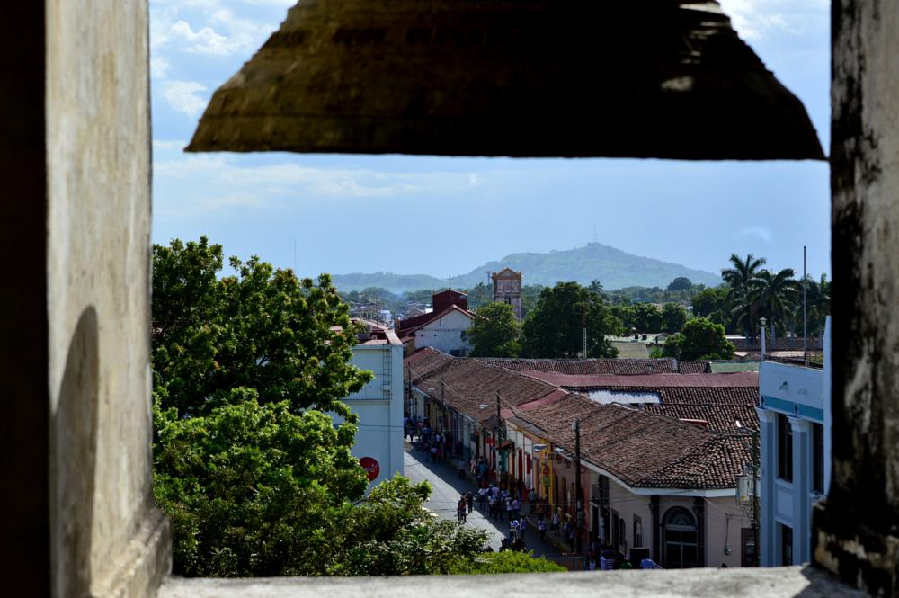Photo in Cityscape #roofs #volcano #bell #leon #nicaragua