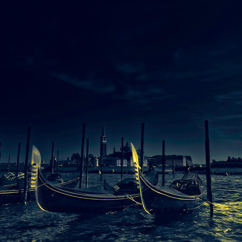 Photo in Abstract #venezia #italy #blu #gondola