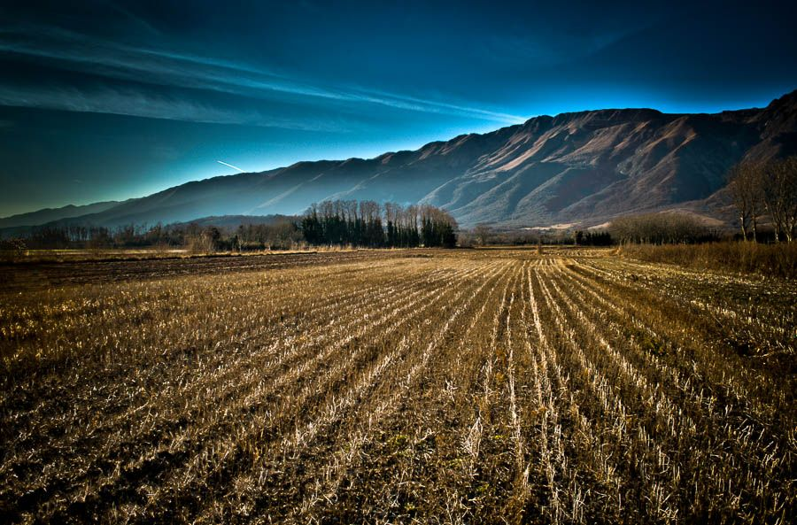 Photo in Landscape #countryside #field #grass #mountains