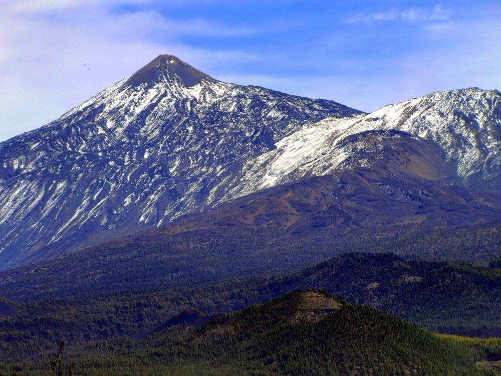 Photo in Landscape #europe #spain #canary islands #tenerife #teide #vulcano #mountain #snow