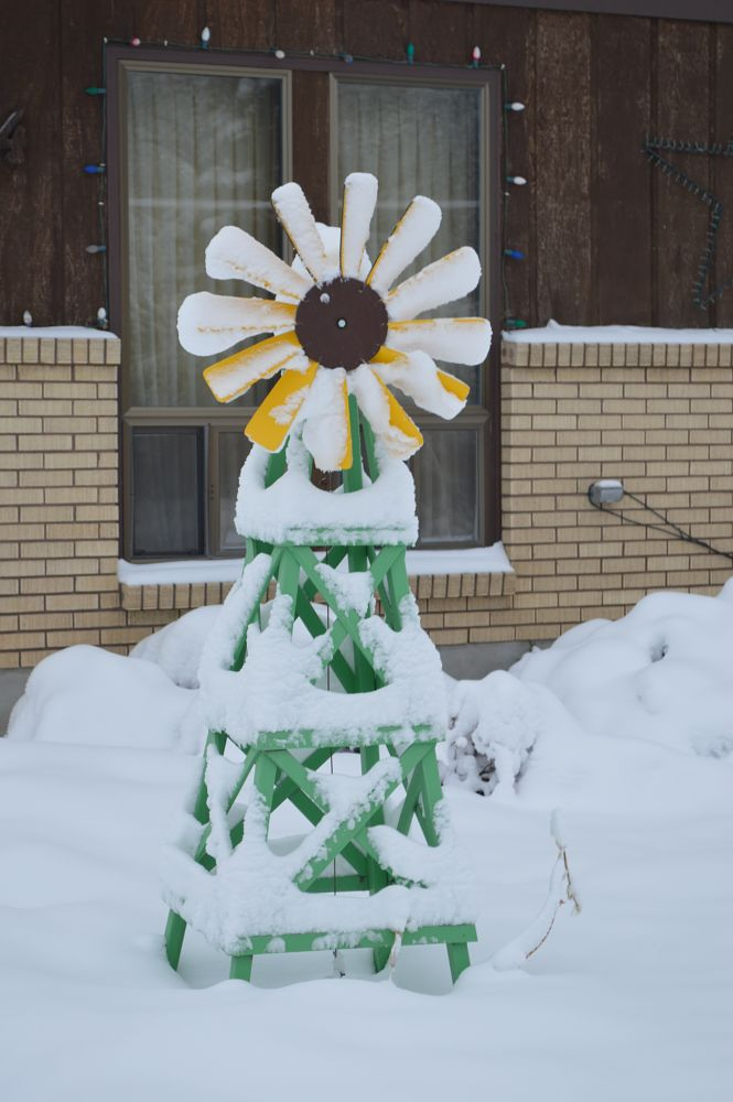 Photo in Random #snow #windmill #winter