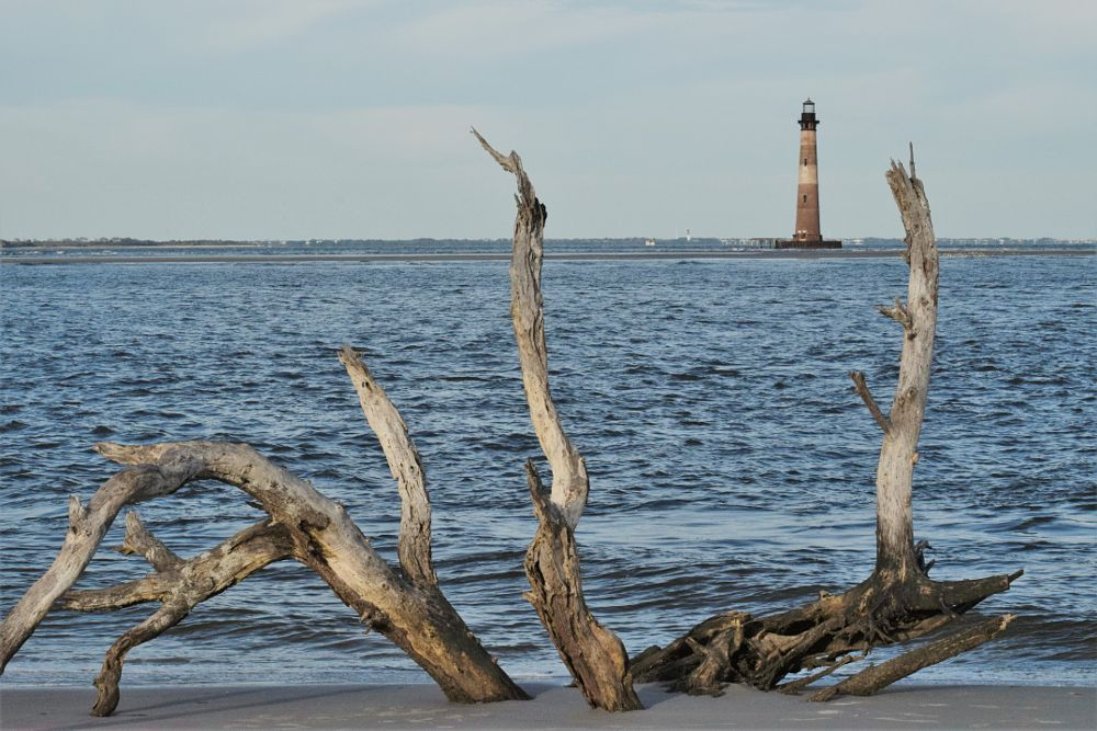 Photo in Sea and Sand #lighthouse #historic lighthouse #morris island lighthouse #south carolina lighthouse
