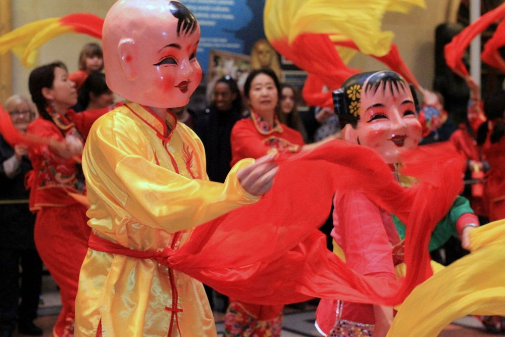 Photo in People #south gloucestershire chinese  #chinese new year #chinese folk dance #cultural dance #traditions #festivity #bristol museum #dance #ribbons #portraits #people