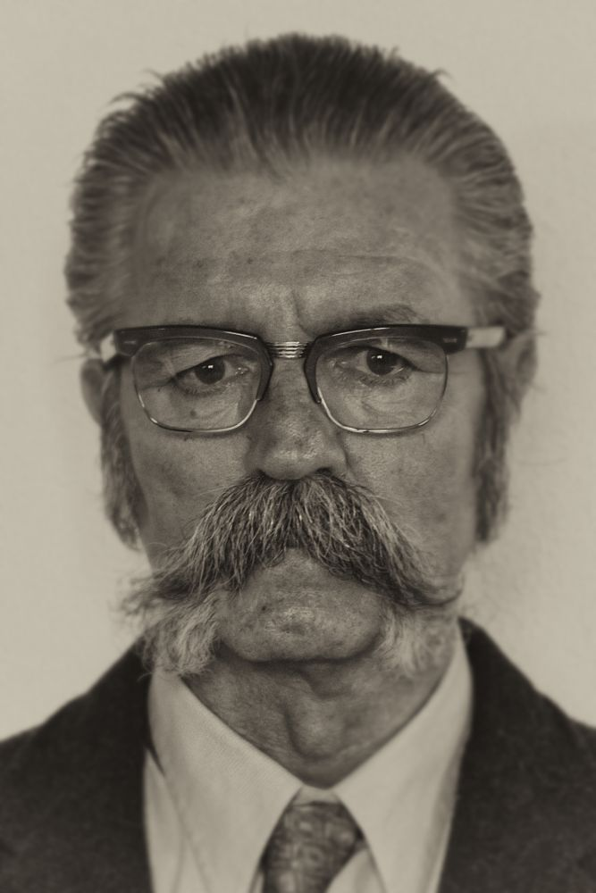 Photo in People #man #glasses #mustache #eyes