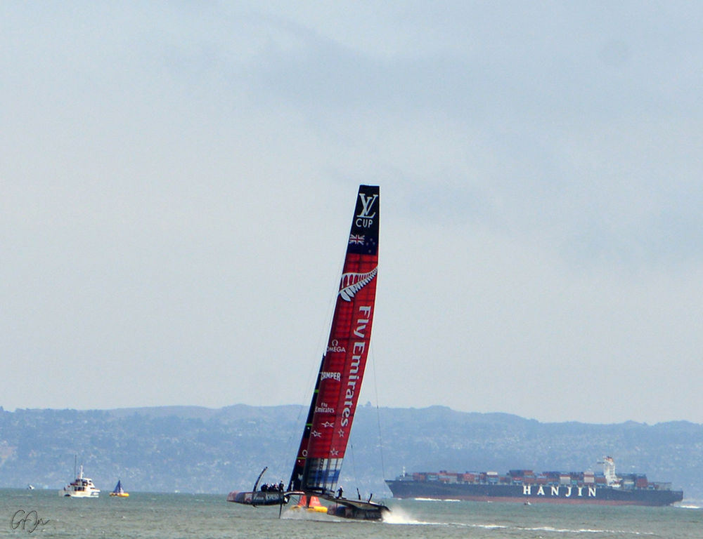 Photo in Sports #race #americascup #san fransisco #new zealand #italy #along the trail