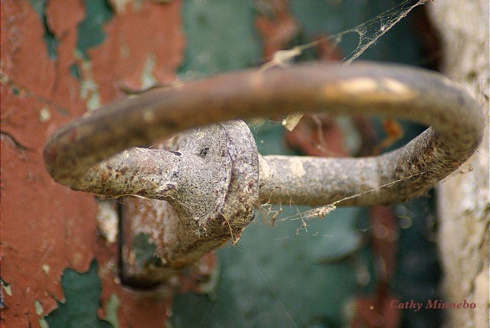 Photo in Random #cathy minnebo #doorknob #old farmdoor