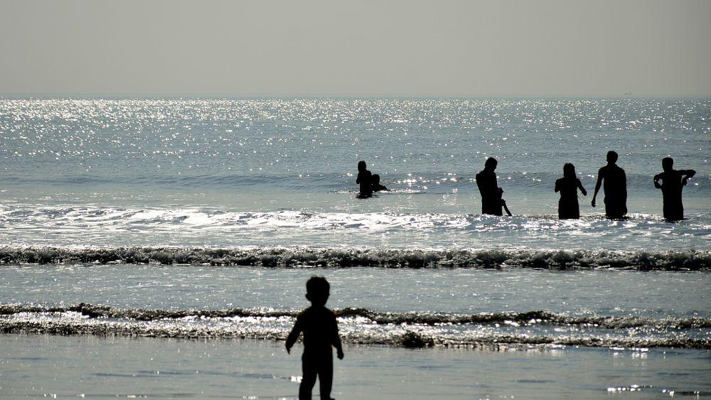 Photo in Sea and Sand #beach #sea #silhouette