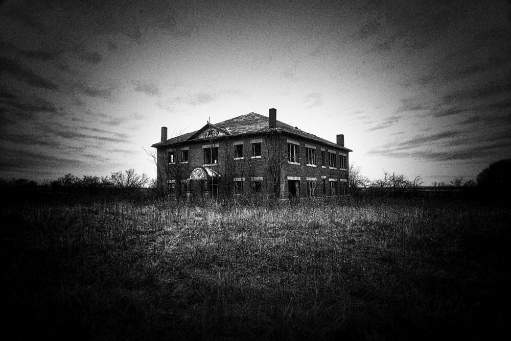 Photo in Architecture #black & white #abandoned #rural #texas