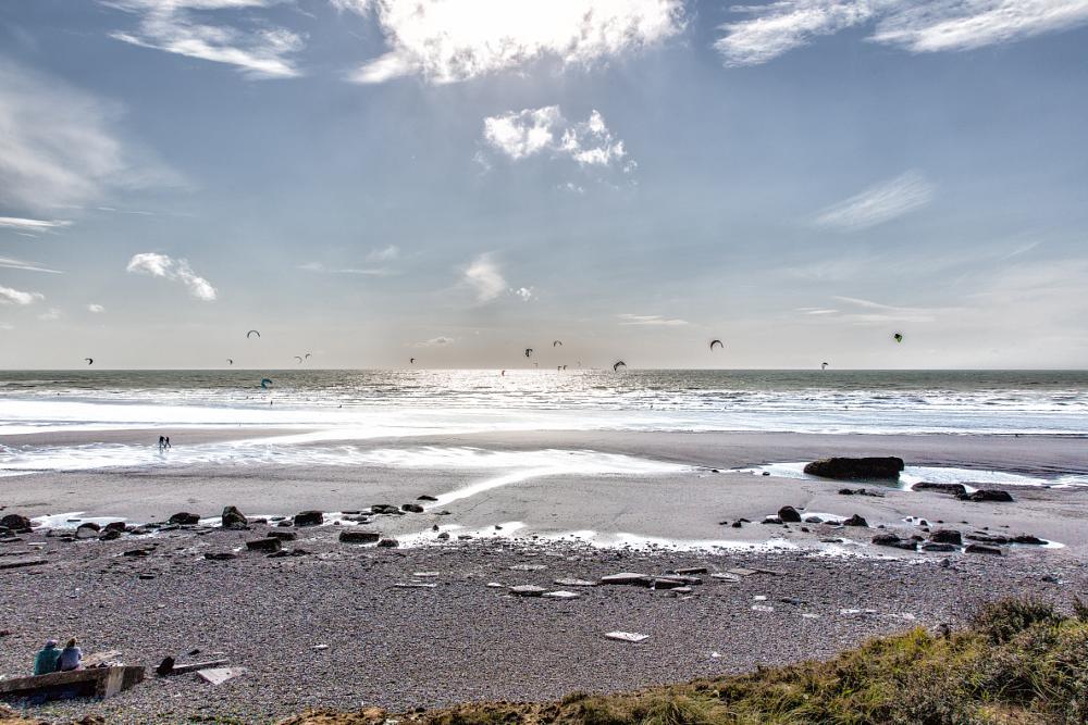 Photo in Landscape #wissant #beach #kite #france #madau #antofender