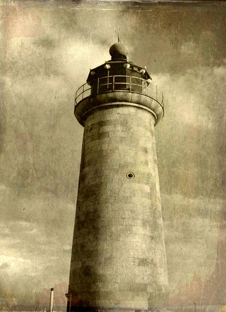 Photo in Architecture #lighthouse #england #uk #light #brick #sepia #frelanzfotoz #vintage