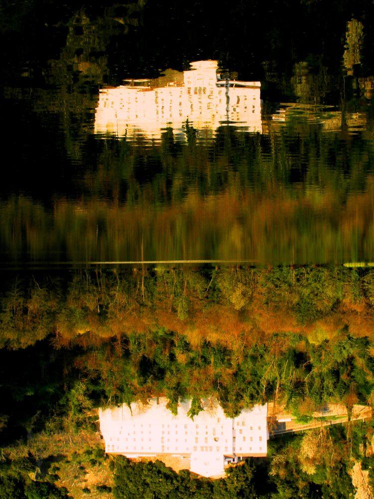 Photo in Landscape #riflessi #paesaggi #panorami #monticchio #laghi di monticchio #abbazia di san michele #basilicata #lucania