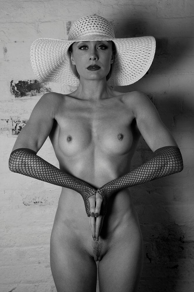 Photo in Nude #gloves black & white nude #katy