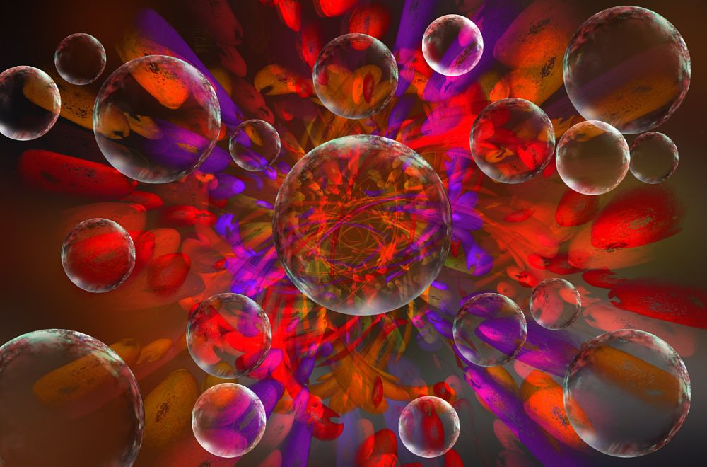 Photo in Abstract #abstract #red #purple #crimson #crystal spheres