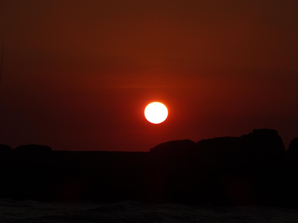 Photo in Landscape #atardecer #sol #mar #italia