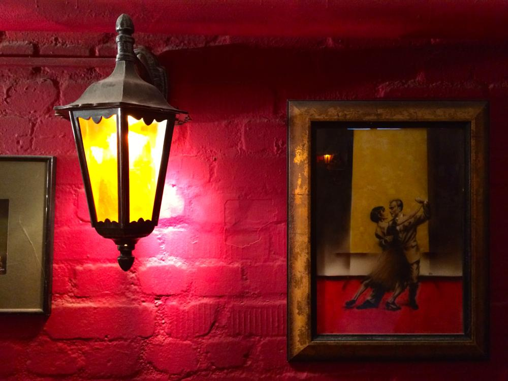 Photo in Still Life #tango #passion #red #lantern #red wall #tango dancers #wall #picture #painting