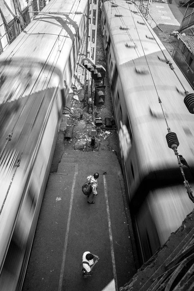 Photo in Journalism #train #black and white #india #people #mumbai #train station