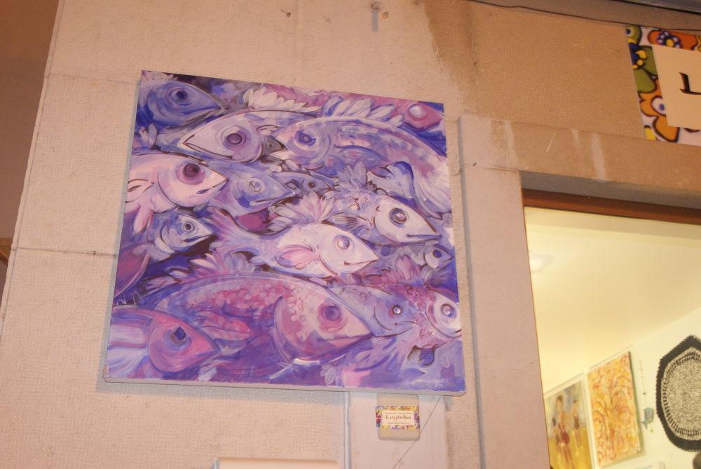 Photo in Fine Art #paint #art #fish #purple