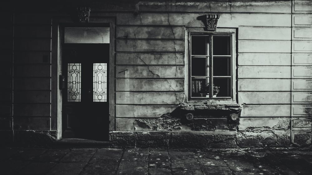Photo in Black and White #day #night #b&w #czech #home #old