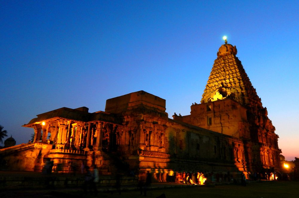 Photo in Architecture #dusk #light #history #india #temple #tamil nadu