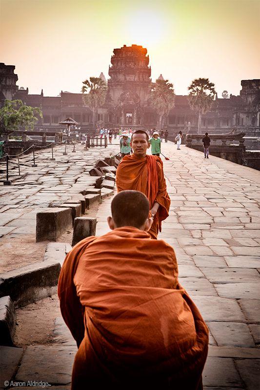 Photo in People #people #monk #angkorwat #temple #sunrise