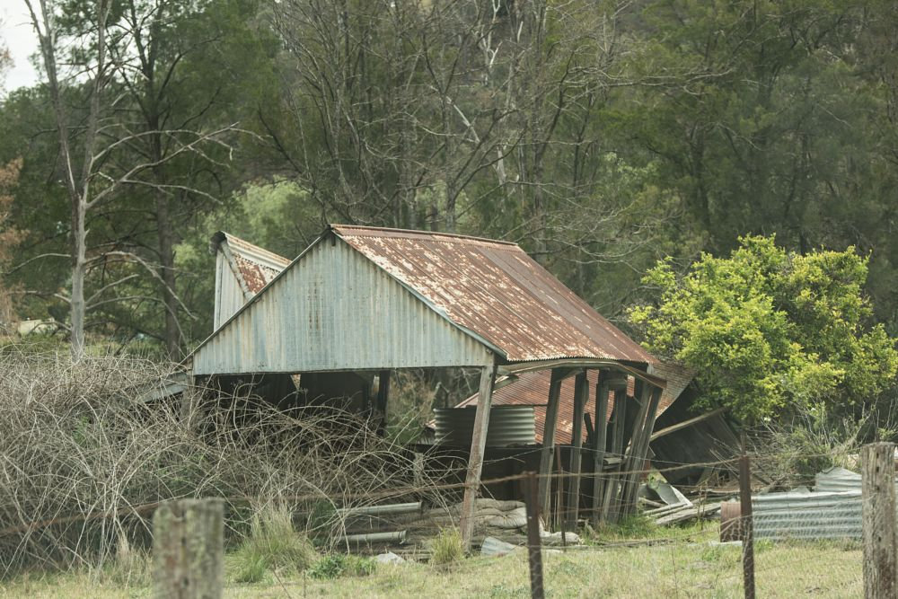 Photo in Architecture #abandonded #tin hut #shack