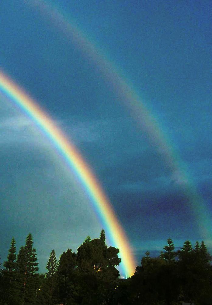 Photo in Random #double #rainbow #sky #colors #colorful