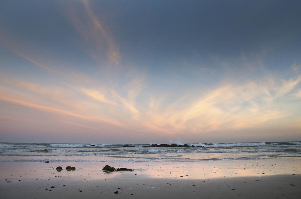 Photo in Landscape #low tide #wet sand #reflections #uilenkraalmond #western cape #overberg #sunset