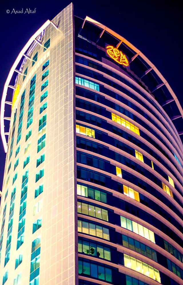 Photo in Architecture #skyscraper #buildings #lights #night