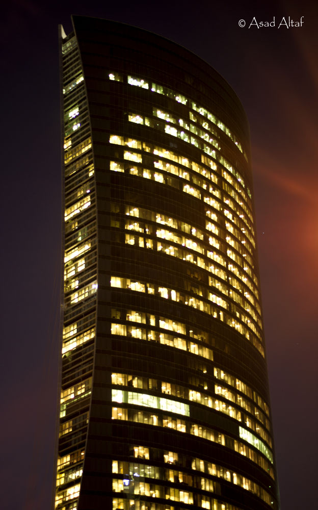 Photo in Architecture #skyscrapers #lights #night #beauty